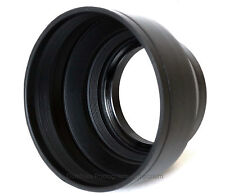 55mm Collapsible Rubber Lens Hood. Universal: Fits any lens w/55mm filter thread