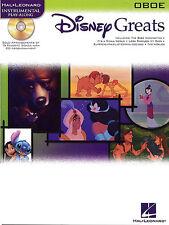 Disney Greats Oboe Sheet Music Book + CD Learn Play NEW