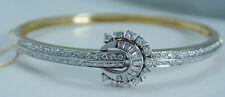 Vintage Diamond Bangle Bracelet 1.49cttw 18K Yellow Gold