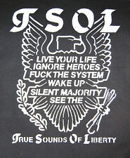 TSOL Eagle Crest schweigende Mehrheit Punk Misfits Angst di verdammten Vorstadt Back Patch