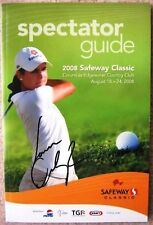 Signed LORENA OCHOA Golf LPGA Safeway PROGRAM In-Person Autograph