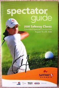 Signed LORENA OCHOA Golf LPGA Safeway PROGRAM In-Person Autograph