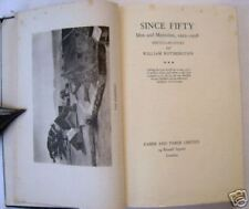 SINCE FIFTY MEMORIES book WILLIAM ROTHENSTEIN 1922–1938