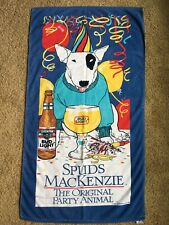 Vtg Spuds Mackenzie Bud Light Beer Beach Towel 80's Original Party Animal Promo