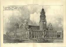 1906 Proposed New Townhall For Durban Natal Raine Paine