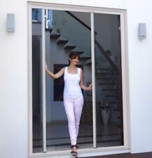 Retractable Door Fly screen for French Doors 2300W x 2400H White Brown Flyscreen