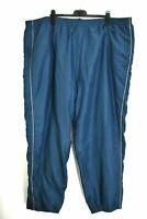 Reebok Mens 4XL Navy Blue Zip Leg Elastic Stretch Waist Track Exercise Sweatpant
