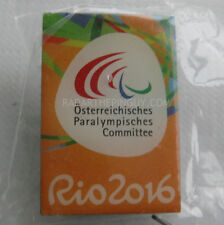 2016 Austrian Paralympic Committee Orange Dated Pin
