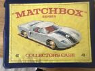 Vintage Die Cast Matchbox Lesney Ford GT 41 Carry Case With30 Cars