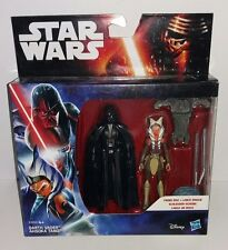 STAR WARS REBELS DARTH VADER & AHSOKA TANO FIGURES TWIN PACK MOC NEW HASBRO