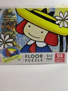 Madeline Kids Floor Puzzle, 2 Sided Game Ages 3+, Large 2x3 Feet