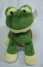 "Animal Alley Soft Green Frog With Long Legs 8"" Plush Stuffed Animal Toy New"