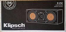 "NEW Klipsch R-25C Reference Dual 5-1/4"" Center-Channel Speaker - Black R25C"