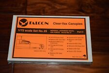 FALCON 25 1/72 CLEAR-VAX IJN AIR FORCE WWII (Part 2) VACUFORM CANOPIES