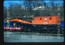 Original Slide B&LE Bessemer & Lake Erie 250 Ton Wrecker A51 Hall PA 1982
