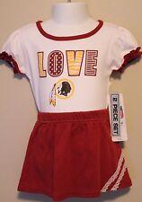 GIRLS 18 months Washington Redskins NFL cheerleader 2-piece outfit NWT