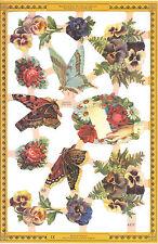 Chromo Le Suh fleurs Pensées Papillon A123 butterflies Flowers