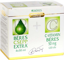Beres gotas csepp extra 4x30ml Suplemento Sistema Inmune + Vitamina C 120x50mg Reino Unido