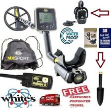 "Whites MX Sport Waterproof Metal Detector with 10"" DD Coil, Bag and Headphones"