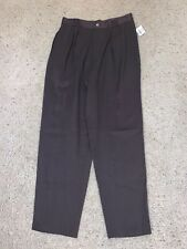 NWT New Women's David N Petites JCPenney Brown Dress Pants Size 12