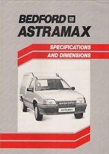 Bedford Astramax 1985-86 UK Market Specification Brochure 365 560 Standard L