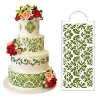 Baking Tool Side Decor Mould Cake Stencil Fondant Damask Lace Flower Border