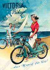 Victoria Vicky Moped Poster Plakat Bild Affiche Schild Reklame Kunstdruck Deko