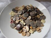 50 and 100 from 99p 20 Cream and White Button Assortment in Packs of 10 Ivory