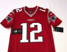 Nike Tom Brady New England Patriots Red Jersey NWT Youth Kids Size Medium