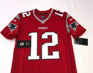 Nike Tom Brady New England Patriots Red Jersey NWT Youth Size Medium