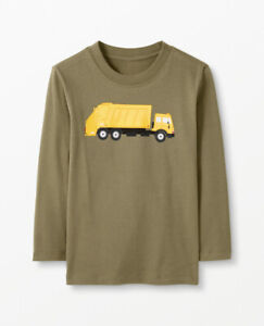 Hanna Andersson Boys Sueded Jersey Art Tee 140 US 10 Cotton Long Sleeve T Shirt