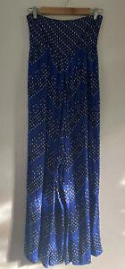 DIANE VON FURSTENBERG Size 2 (6) Ivena Wide Leg Stretch Silk Jumpsuit Strapless