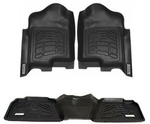COMBO Floor Mats 1st and 2nd Row Toyota Tacoma Double Cab 2016 - 2018 - Black