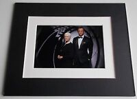 Dame Judi Dench Signed Autograph 10x8 photo mount display James Bond Film & COA