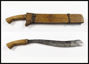 Vintage early 20th century Moro  Bagobo Mindanao bolo knife kris barong LOOK