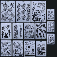 DIY Craft Layering Stencils Templates Painting Scrapbooking Paper Album Cards