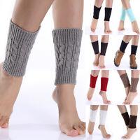 Women Warm Winter Crochet Boot Cuffs Shell Knitted Toppers Boot Socks Leg Warmer