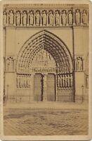 Portail Da La Cattedrale Notre-Dame De Paris Vintage Albumina Ca 1880