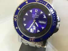 CROTON DAY DATE AUTOMATIC 300 M DIVER BLUE DIAL 48mm WATCH
