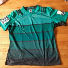 Wellington Hurricanes Nouvelle Zélande adidas Maillot Rugby Turquoise 3XL Neuf
