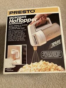 NEW In Box Sealed Presto 03050 Microwave HotTopper Butter Melter/Dispenser