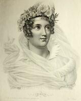 """Nach GARNEREY(1785-1824), """"L'héroïne"""", weibl. Allegorie, Punktiermanier"""