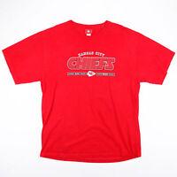 Vintage NFL Kansas City Cheifs Red 00s Short Sleeve T-Shirt Mens XL