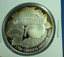 1996 Canada John McIntosh Proof Silver Dollar little toning