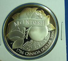 1996 Canada John McIntosh Proof Silver Dollar little toning