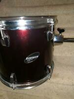 "LUDWIG ACCENT COMBO 12""  and 13"" RED WRAP MOUNTED TOM DRUMS"