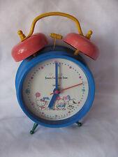 SANRIO HELLO KITTY ALARM CLOCK CHARACTER TOWN BLUE VINTAGE 1976 THRU 1993 USED