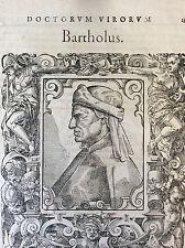 Doctorum Vivorum Bartholus  par Paolo Giovio. 1577 Italia Italie XVI ème