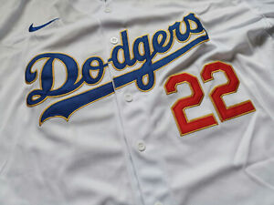 Dodgers Authentic Gold Program Kershaw Jersey World Series  White Jersey !!!
