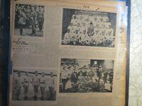 Baseball Team Photo Newspaper 1914 PHILADELPHIA ATHLETICS + SOLDIERS OF INDIA